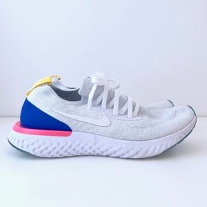 Nike Epic React Flyknit White Racer Blue Pink